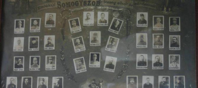 Somogyszobi katonák az I. világháborúban abc sorrendben
